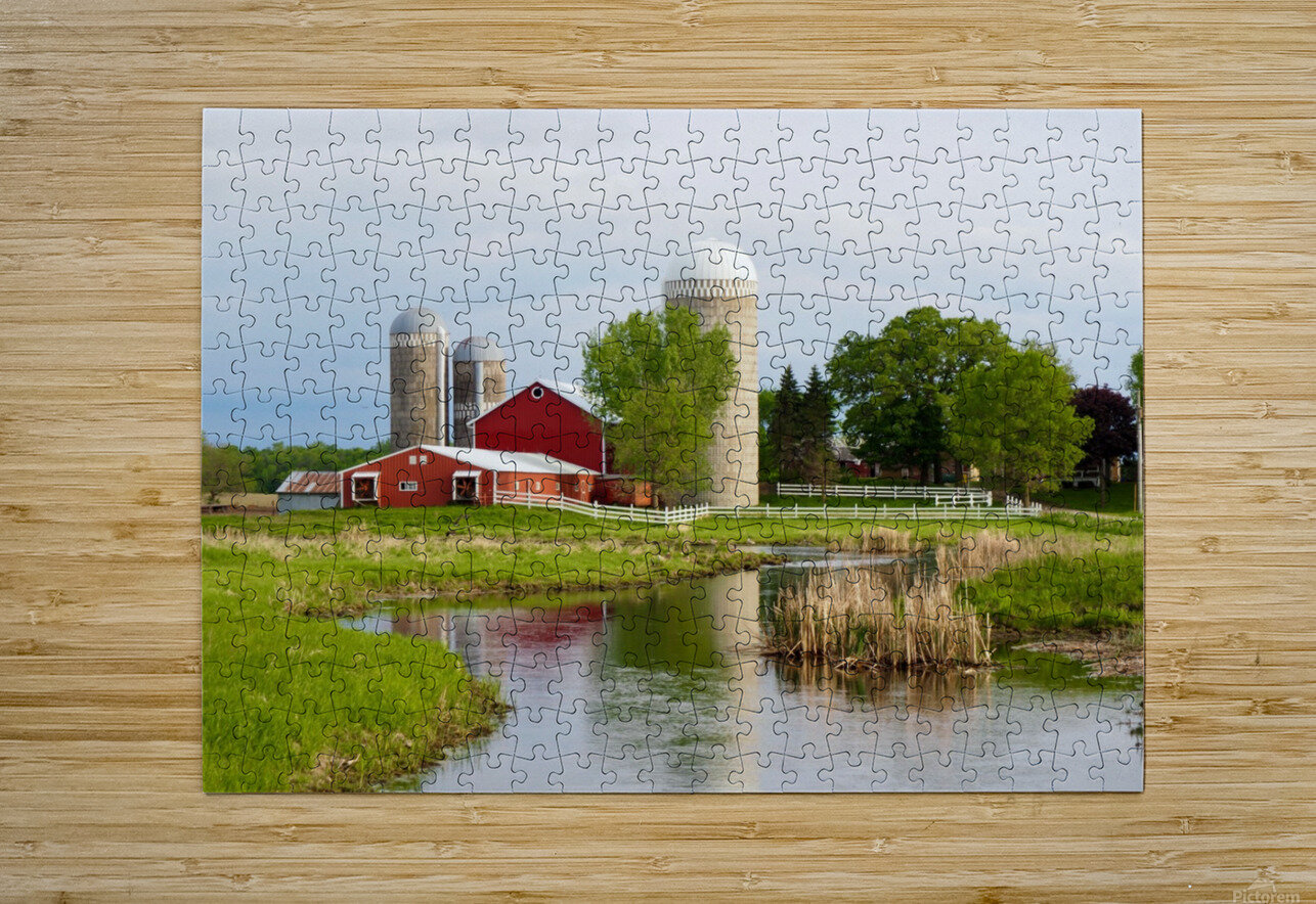 Country Farm  HD Metal print with Floating Frame on Back