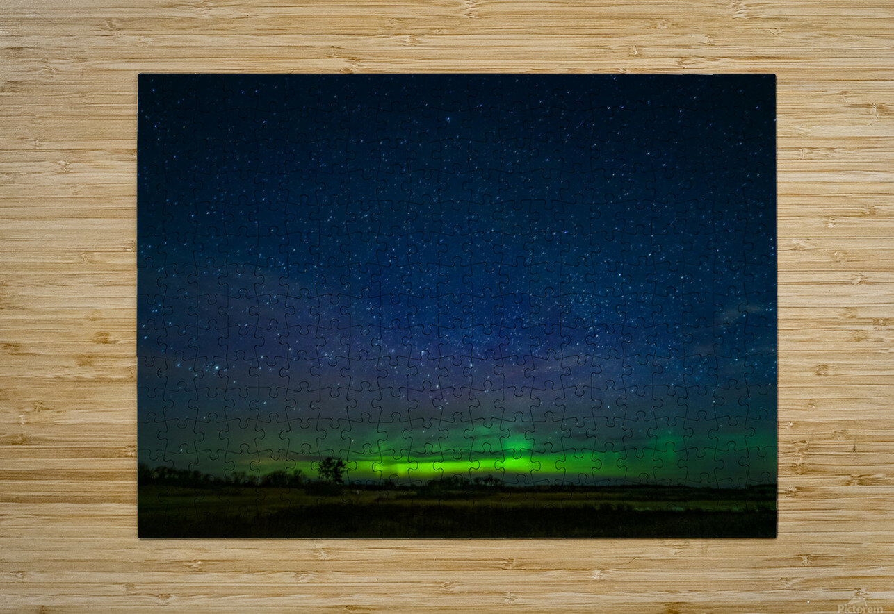 Northern Lights MN  HD Metal print with Floating Frame on Back