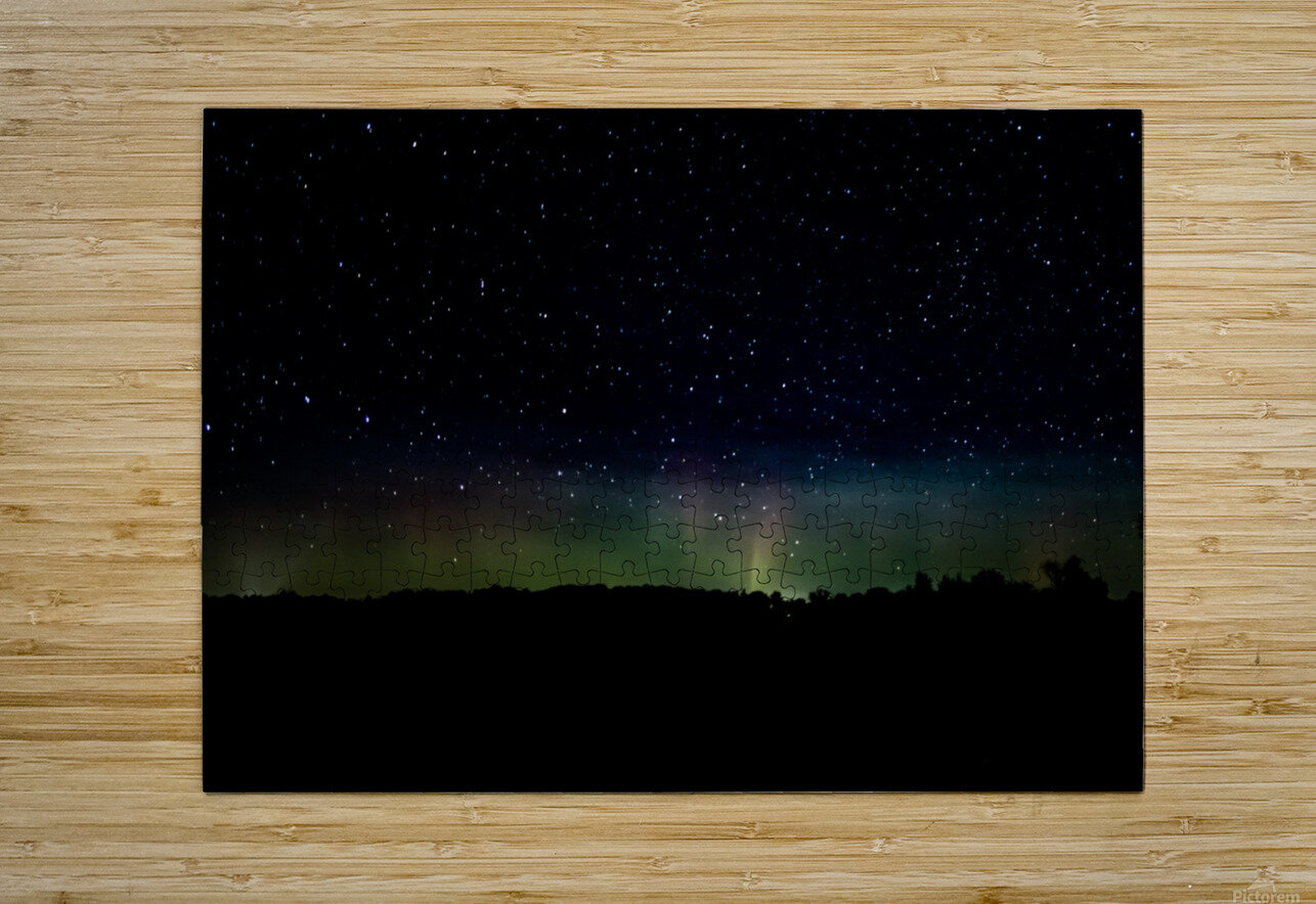 Aurora Glow  HD Metal print with Floating Frame on Back