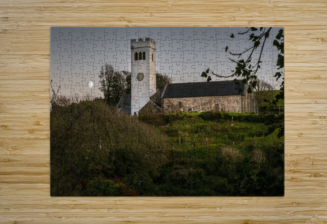 St Jamess Church in Manorbier  HD Metal print with Floating Frame on Back