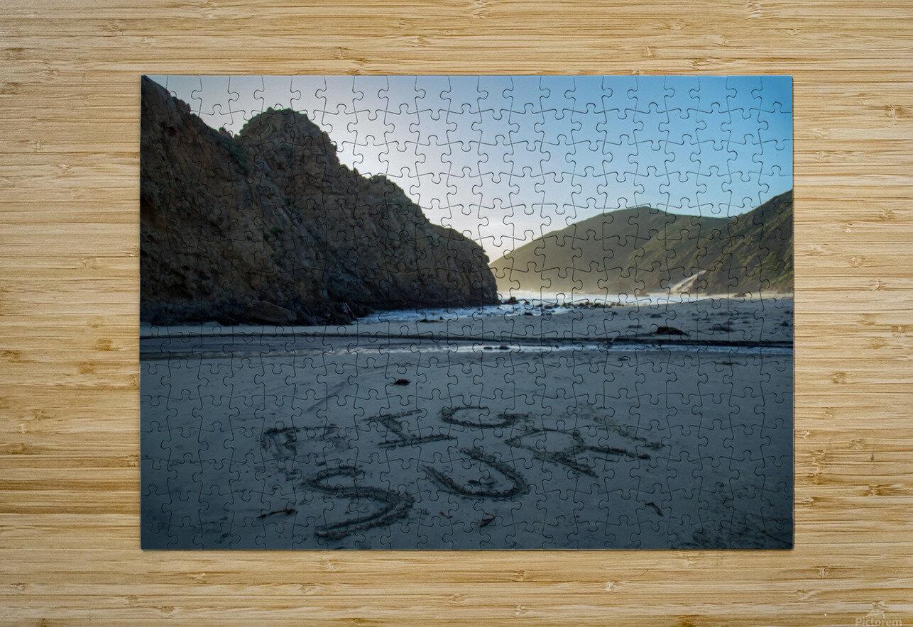 Big Sur  HD Metal print with Floating Frame on Back