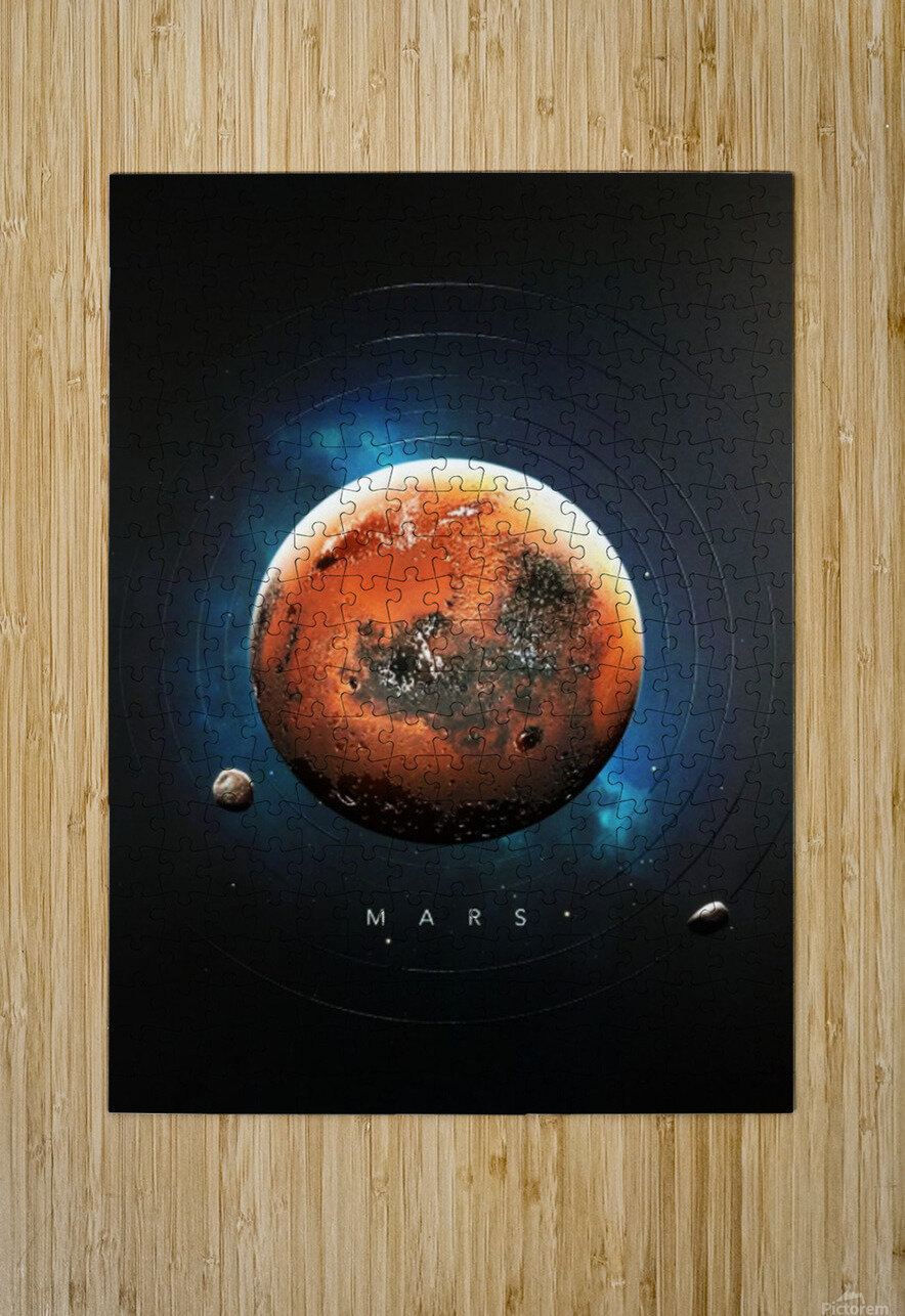 Destination Mars  HD Metal print with Floating Frame on Back
