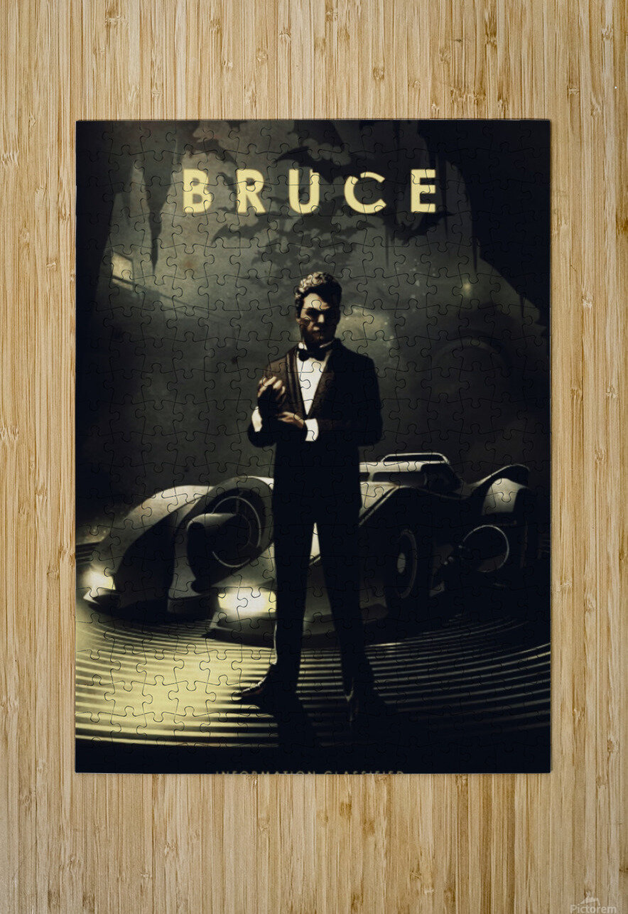 Bruce Wayne  HD Metal print with Floating Frame on Back
