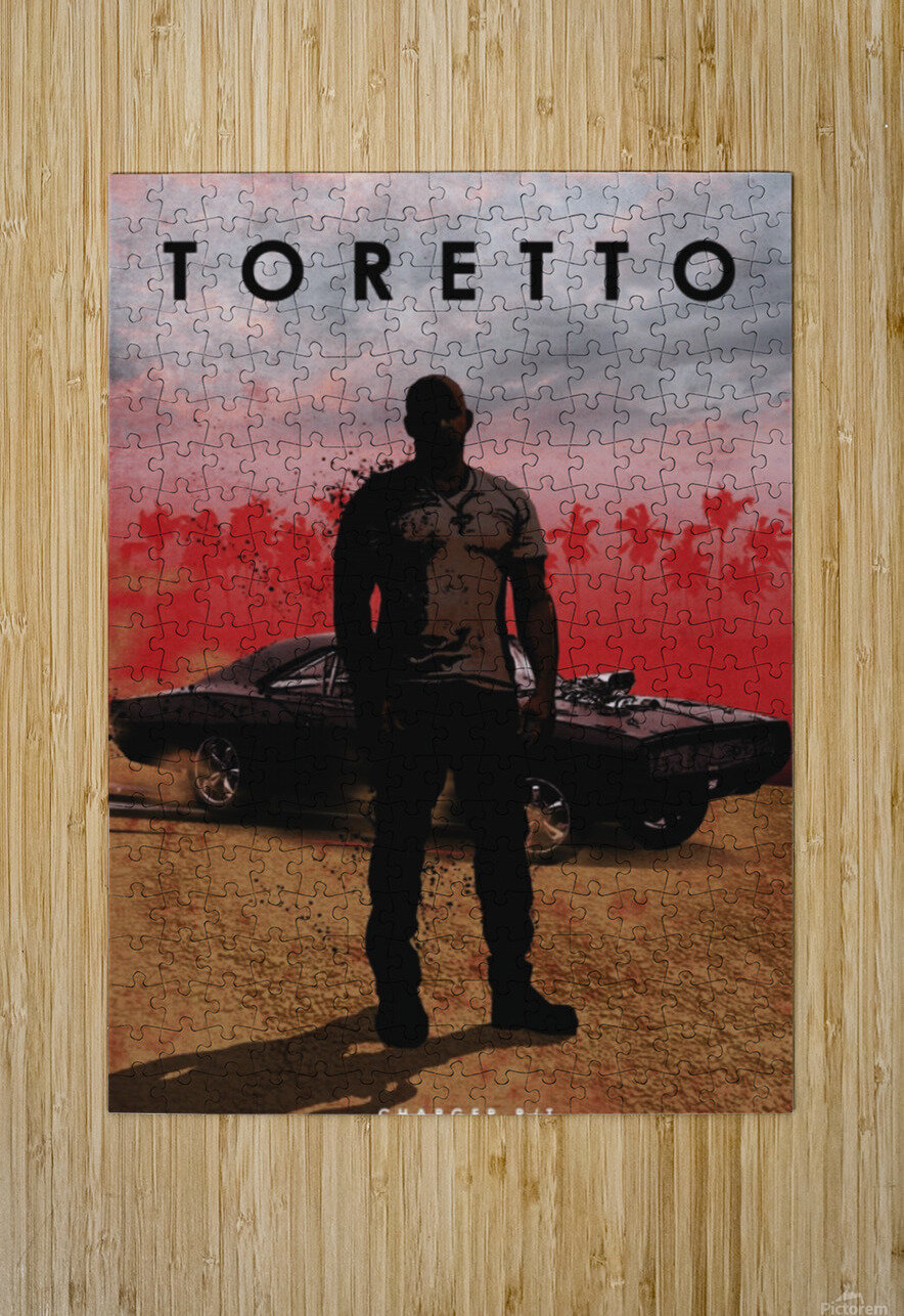 Dominic Toretto  HD Metal print with Floating Frame on Back