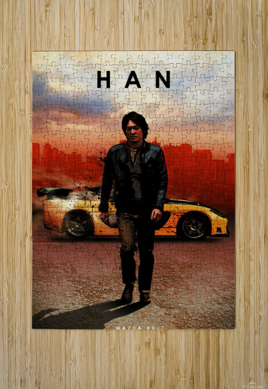 Han Lue  HD Metal print with Floating Frame on Back