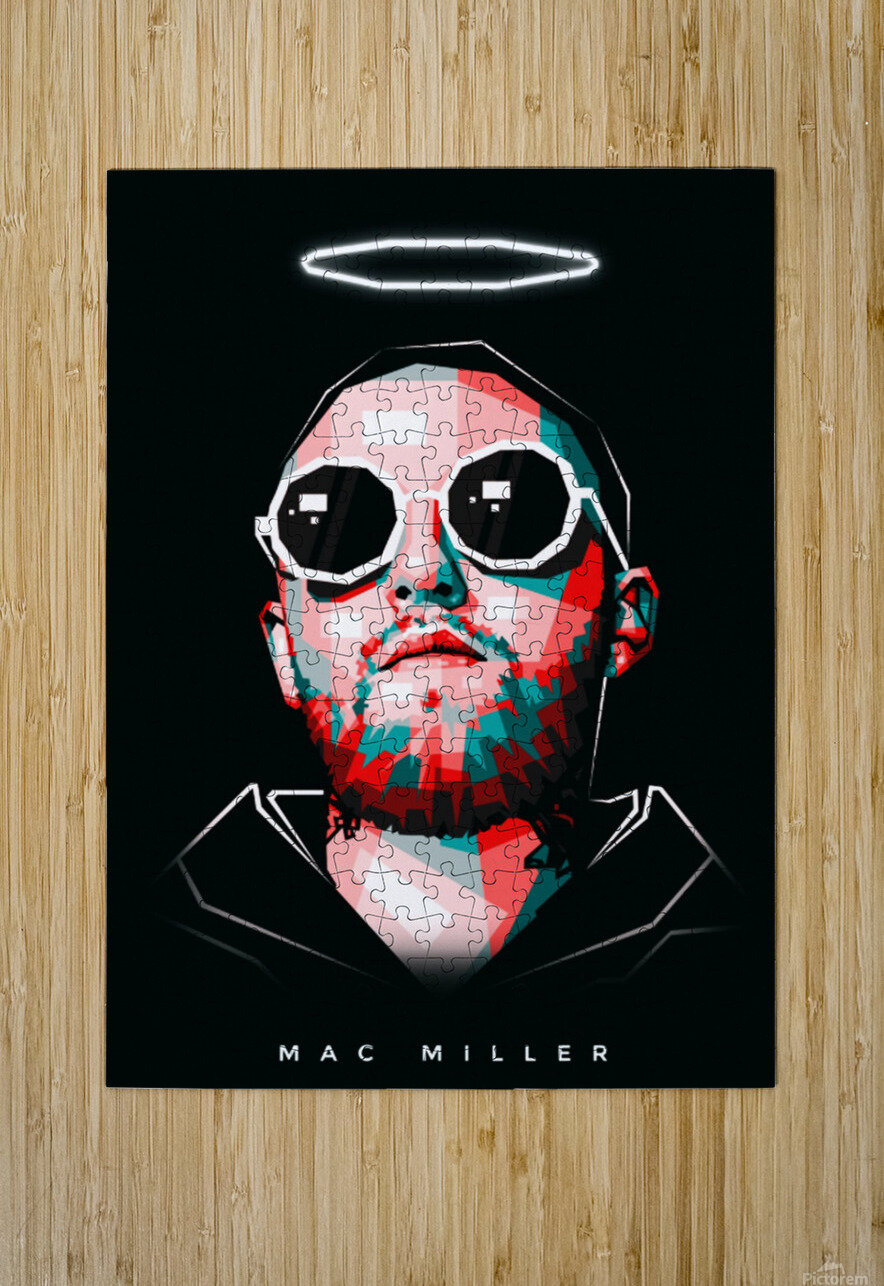 Mac Miller  HD Metal print with Floating Frame on Back