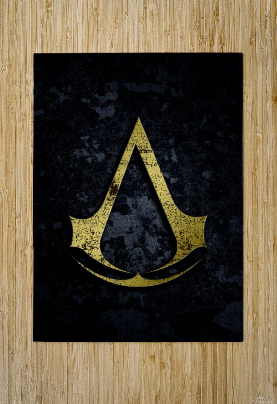 Assassin Creed  HD Metal print with Floating Frame on Back