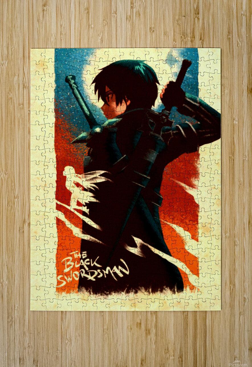 Kirito SWORD ART ONLINE  HD Metal print with Floating Frame on Back