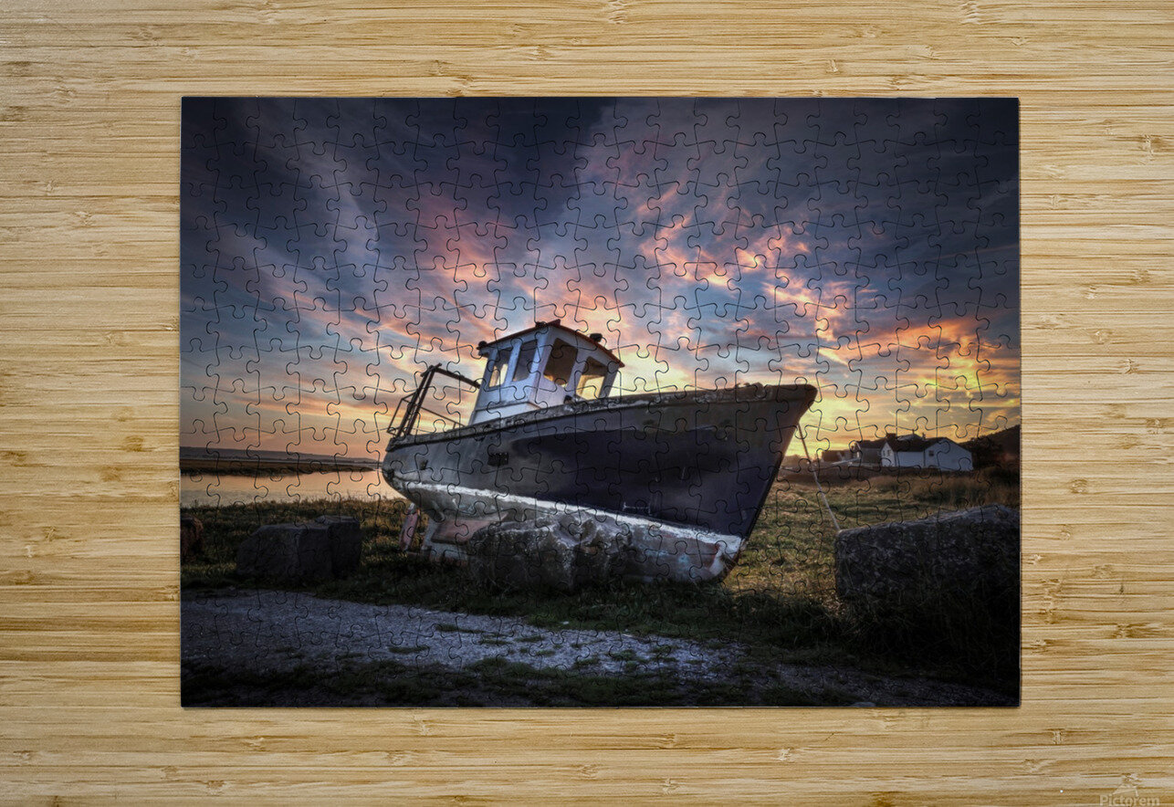 The old fishing boat  HD Metal print with Floating Frame on Back