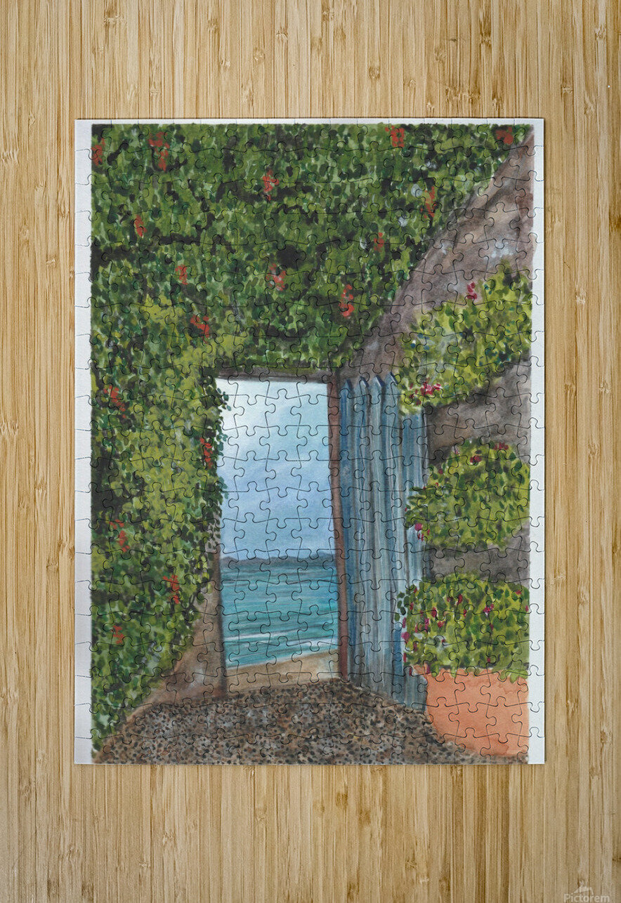 An Open Door  HD Metal print with Floating Frame on Back