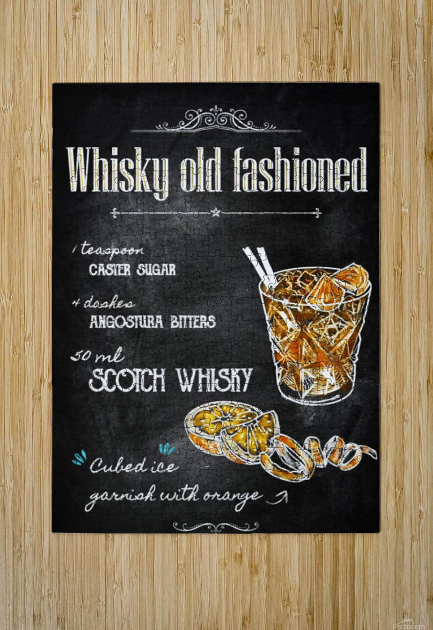 Whisky old fashioned  HD Metal print with Floating Frame on Back