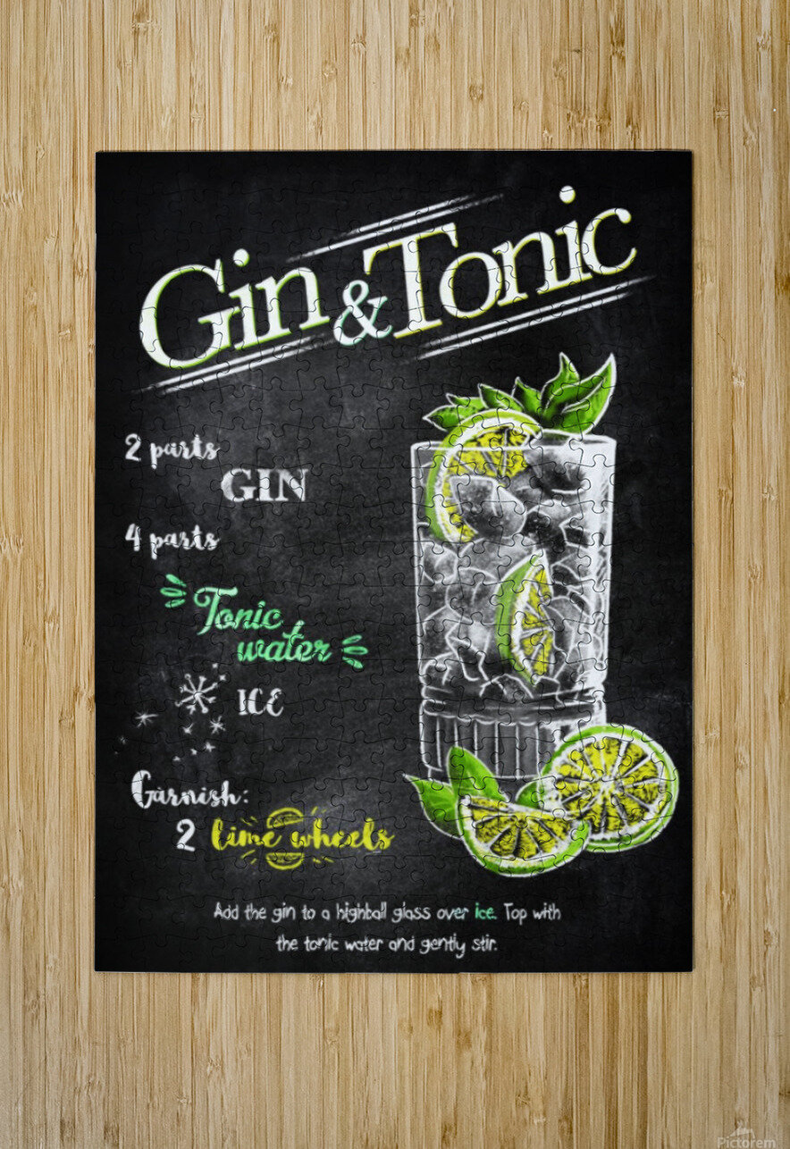 Gin and Tonic  HD Metal print with Floating Frame on Back