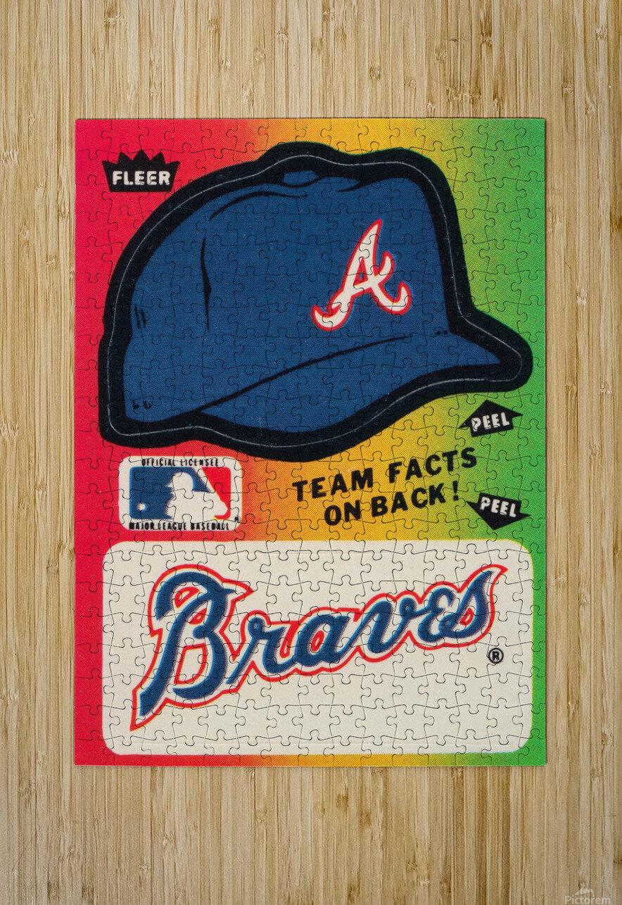 1983 Atlanta Braves Fleer Decal  HD Metal print with Floating Frame on Back