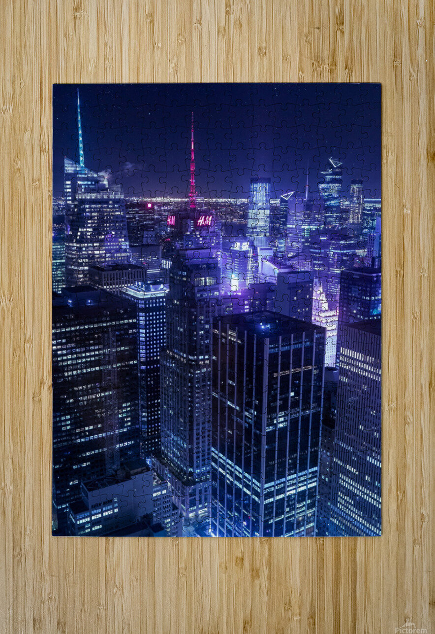 The Grid  HD Metal print with Floating Frame on Back