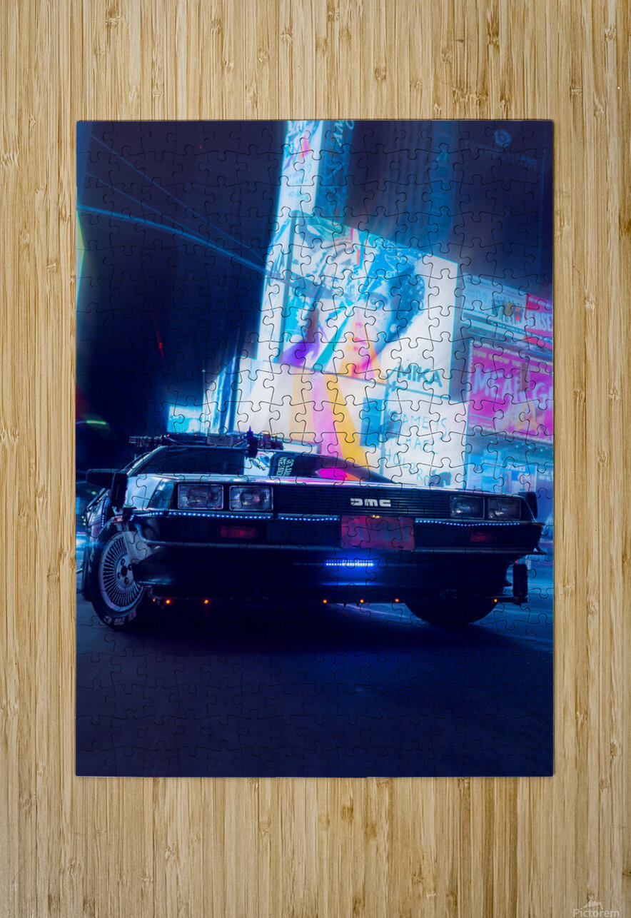 My DeLorean  HD Metal print with Floating Frame on Back