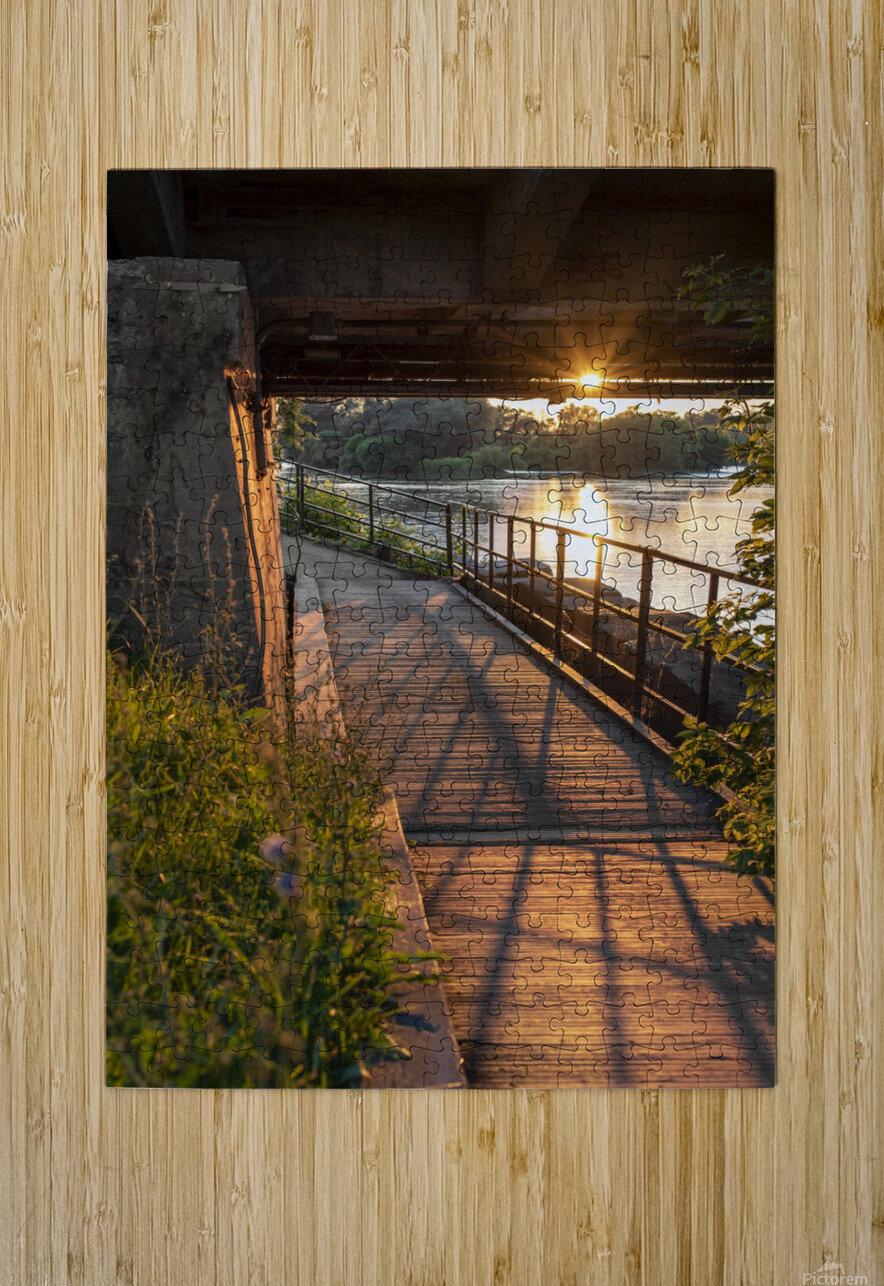 BridgeBoardwalk  HD Metal print with Floating Frame on Back