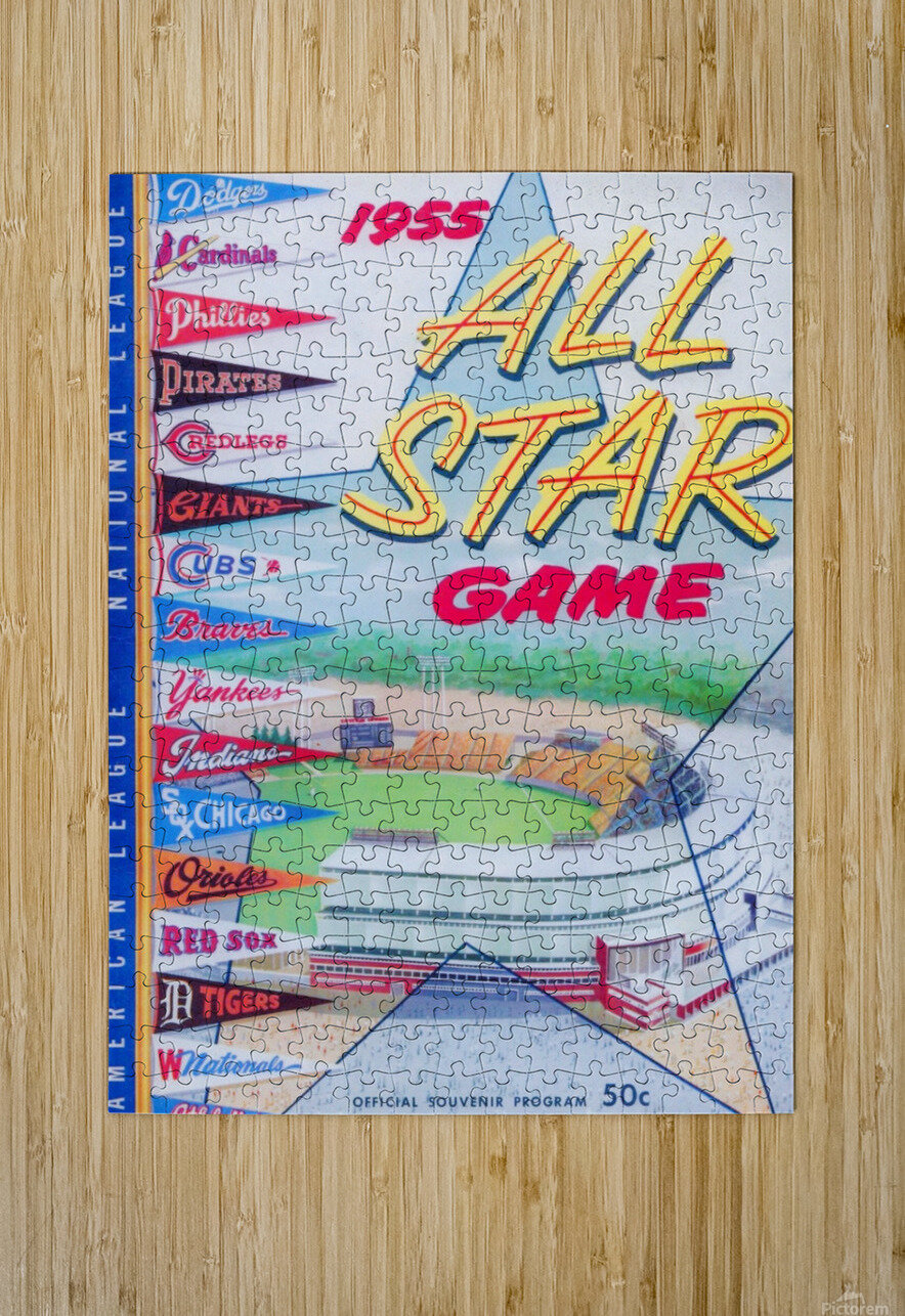 1955 Major League All-Star Game  HD Metal print with Floating Frame on Back
