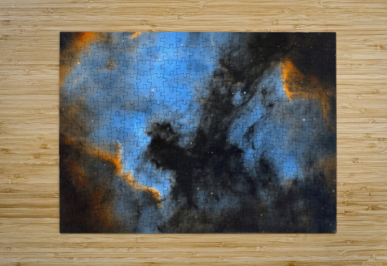 North American and Pelican Nebula  HD Metal print with Floating Frame on Back