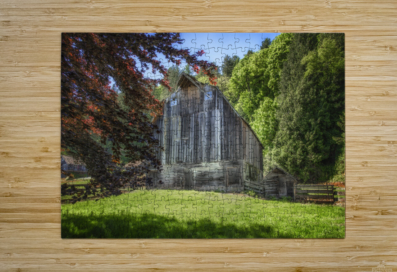 Old Cattle Barn  HD Metal print with Floating Frame on Back