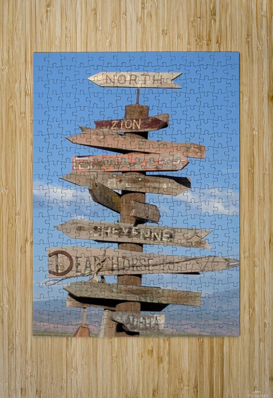 Crossroads at Moab  HD Metal print with Floating Frame on Back