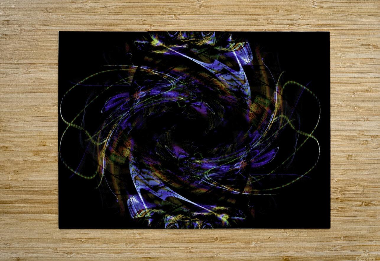 FLOWER OF FLUX  HD Metal print with Floating Frame on Back