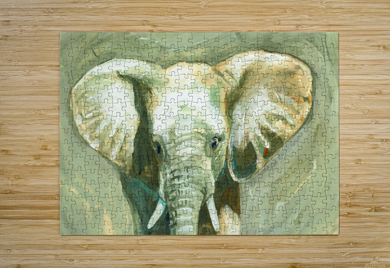 Young Elephant   HD Metal print with Floating Frame on Back