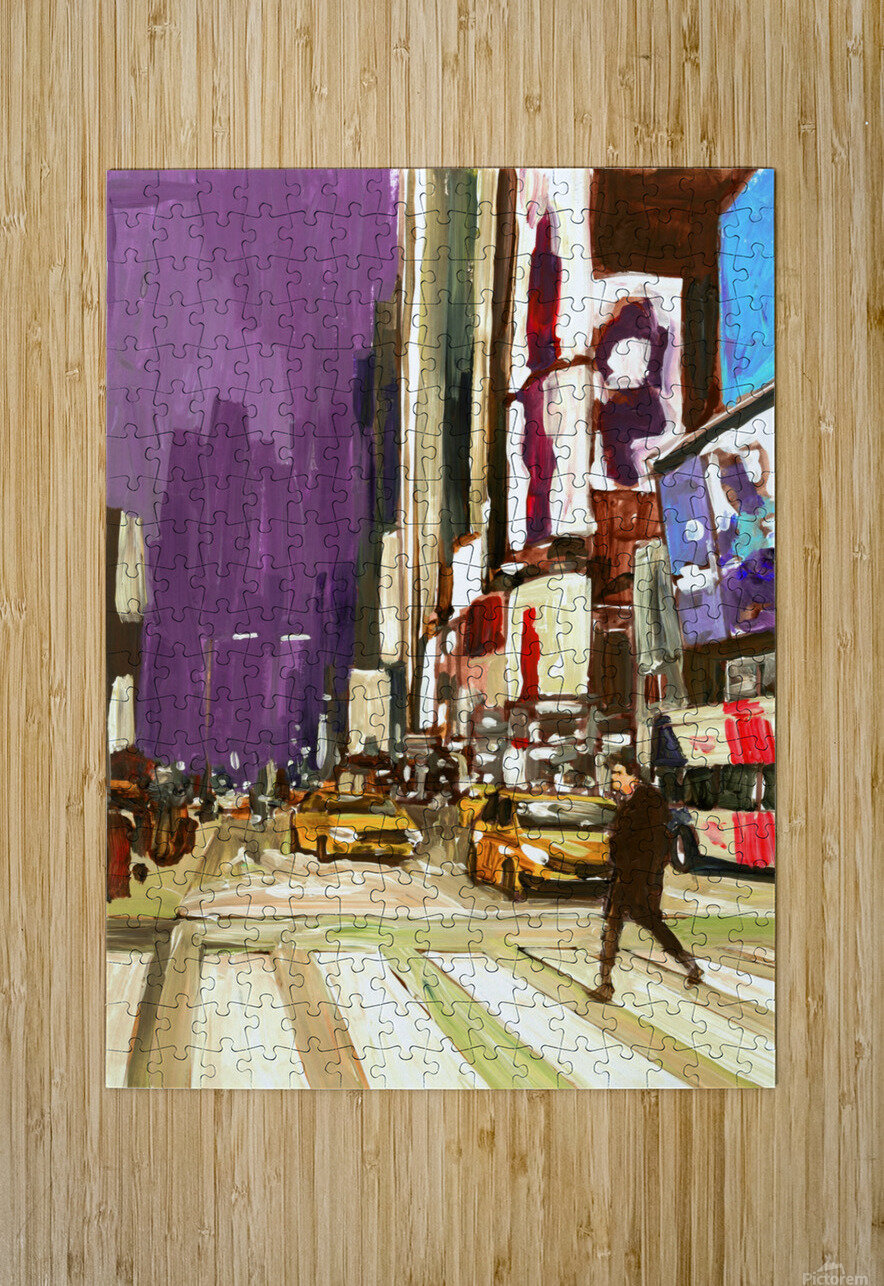 NY Friday Night  HD Metal print with Floating Frame on Back