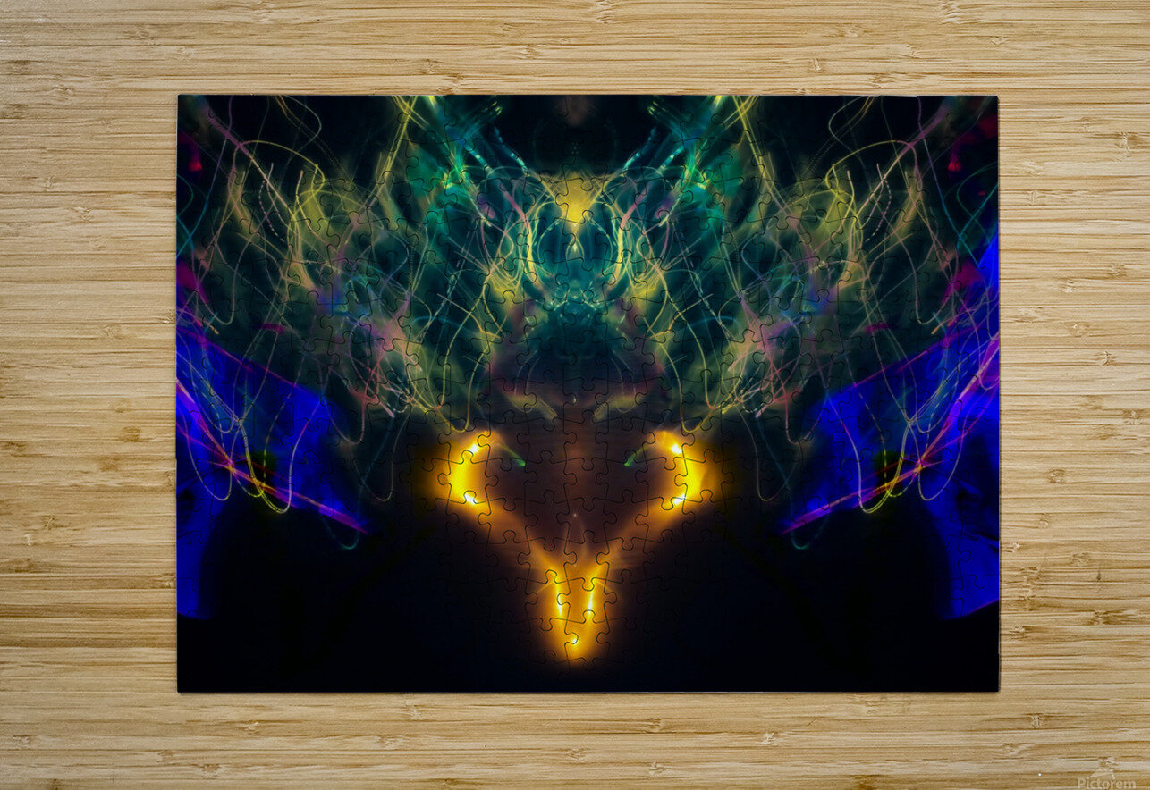 OWL MESSENGER  HD Metal print with Floating Frame on Back