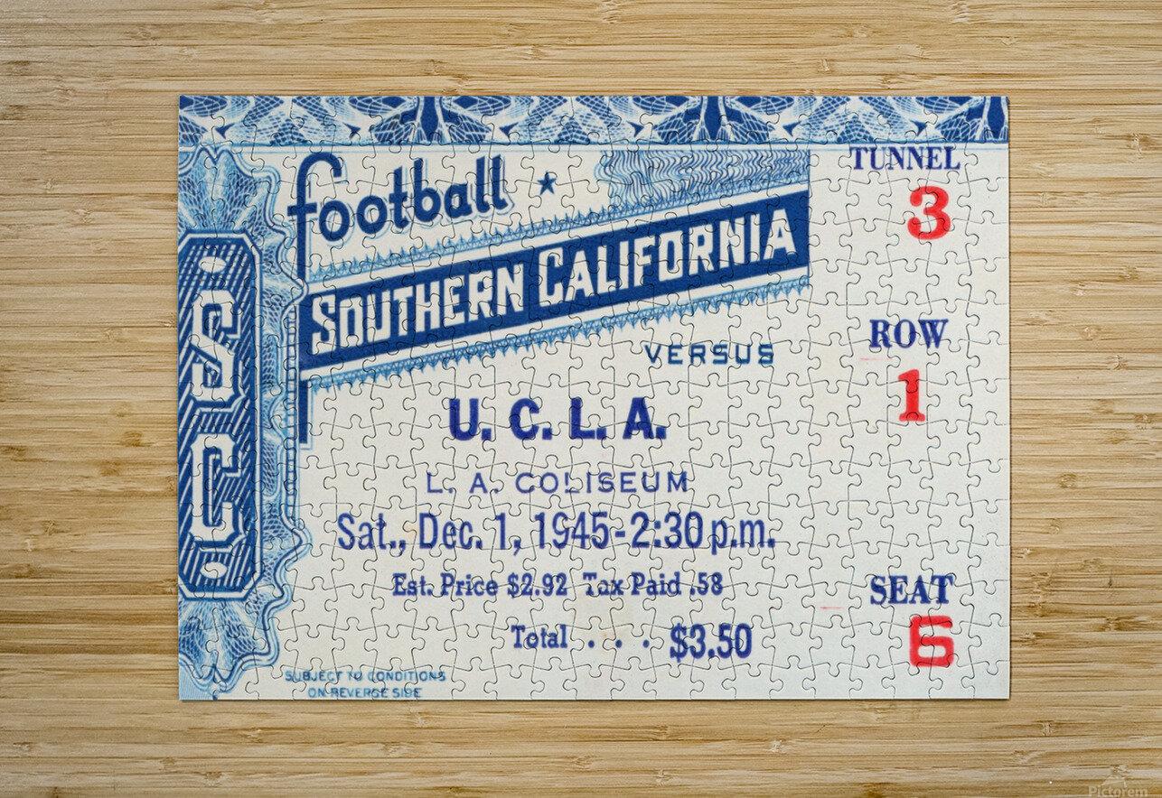 1945 USC vs. UCLA Game 2  HD Metal print with Floating Frame on Back