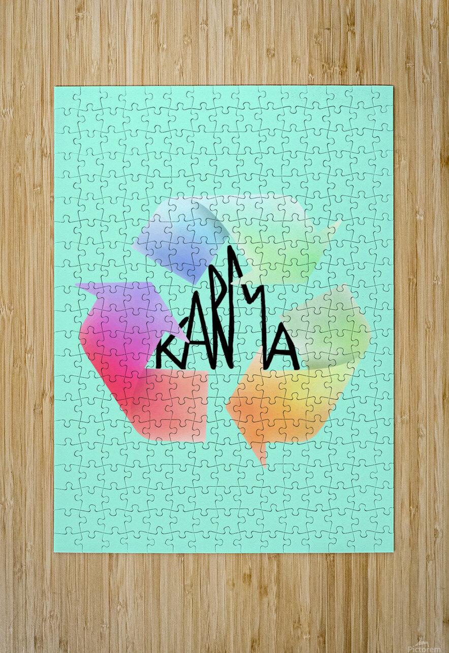 karma  HD Metal print with Floating Frame on Back