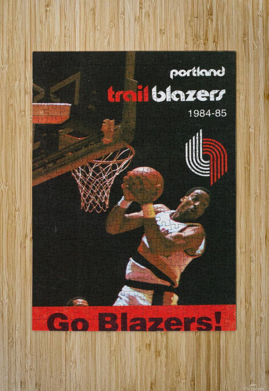 1984 Portland Trailblazers  HD Metal print with Floating Frame on Back