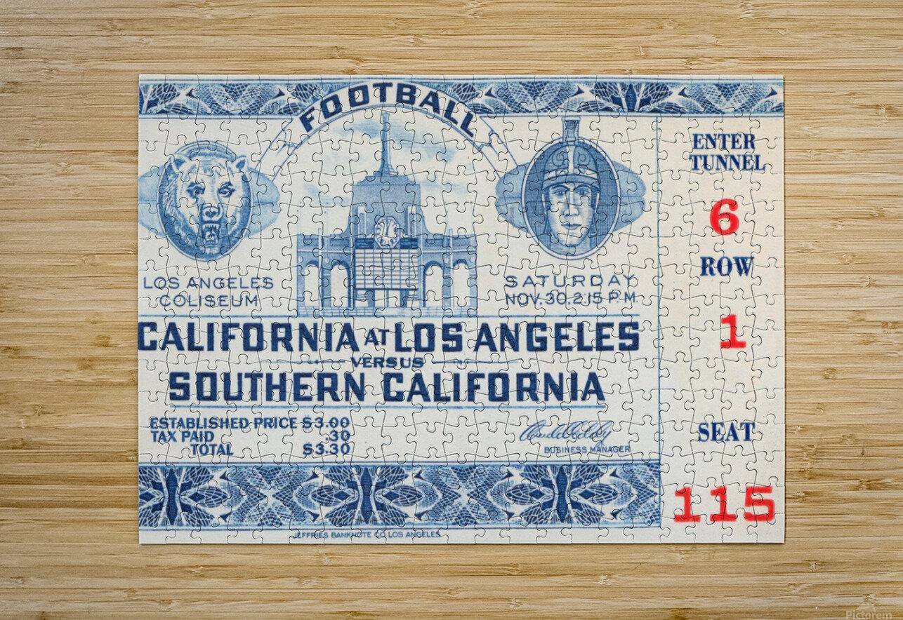 1940 USC vs. UCLA  HD Metal print with Floating Frame on Back