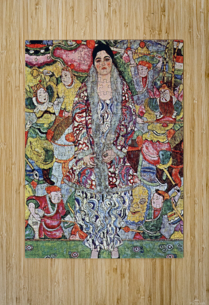 Portrait of Frederika Maria Beer by Klimt  HD Metal print with Floating Frame on Back