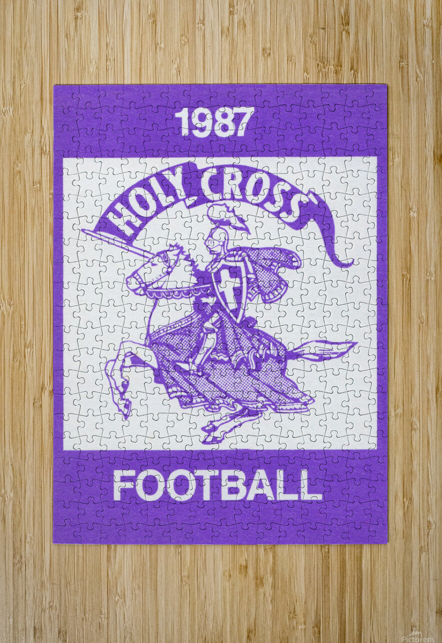 1987 Holy Cross Football  HD Metal print with Floating Frame on Back