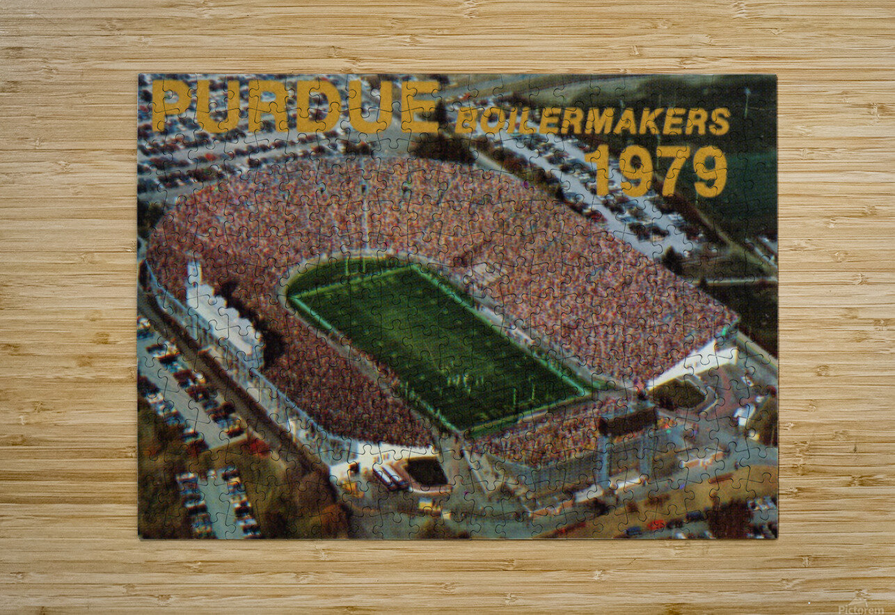 1979 Purdue Ross-Ade Stadium Art  HD Metal print with Floating Frame on Back