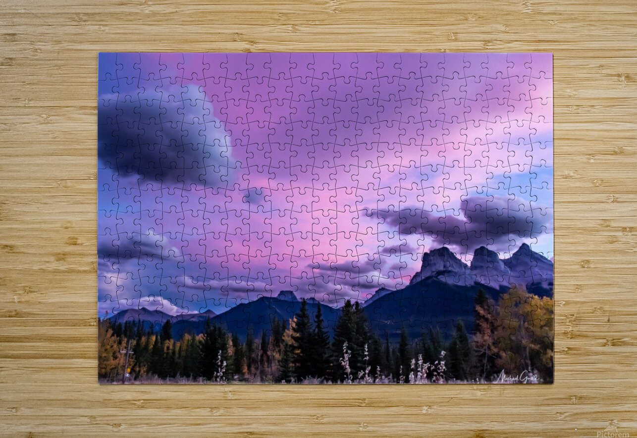 Three Sisters Cosmic Sky IMG_5594  HD Metal print with Floating Frame on Back