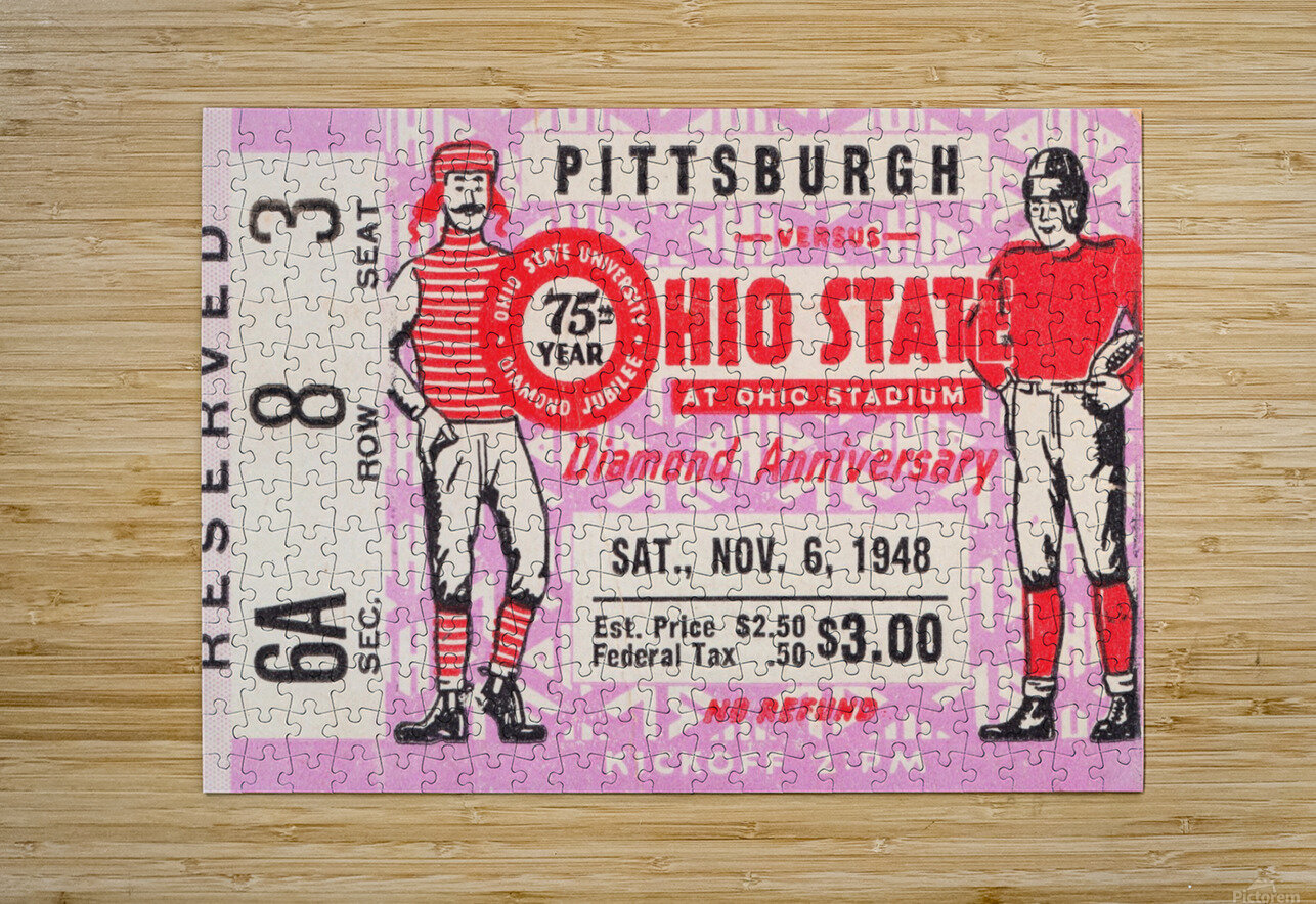 1948 Ohio State vs. Pittsburgh   HD Metal print with Floating Frame on Back