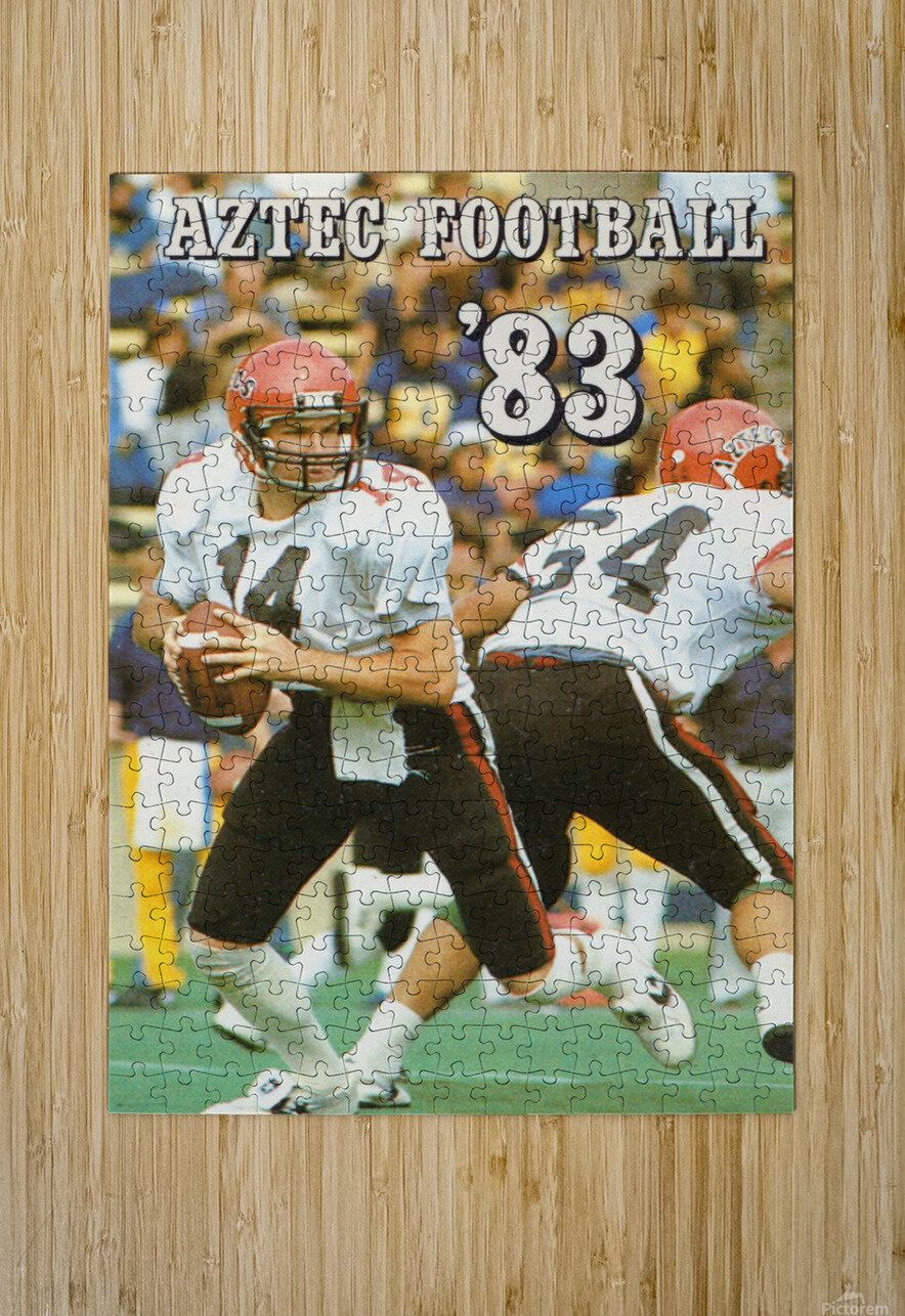 1983 San Diego State Aztecs  HD Metal print with Floating Frame on Back
