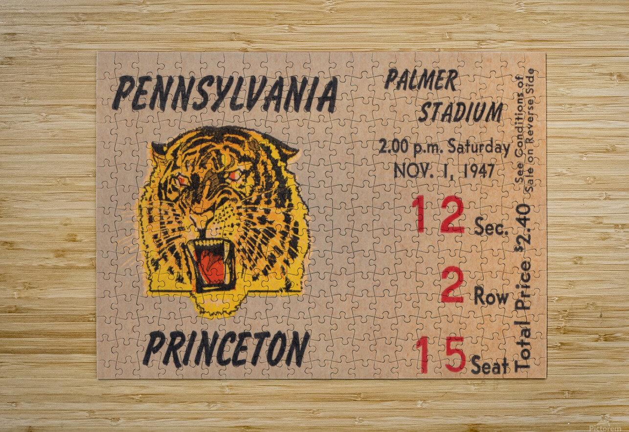 1947 Princeton vs. Penn  HD Metal print with Floating Frame on Back