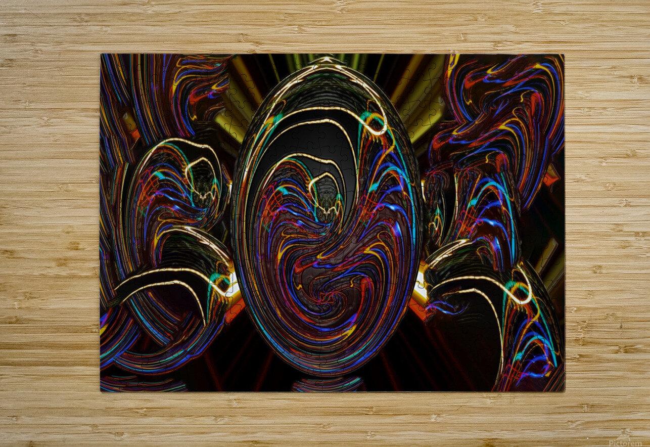 LENNYEGG  HD Metal print with Floating Frame on Back