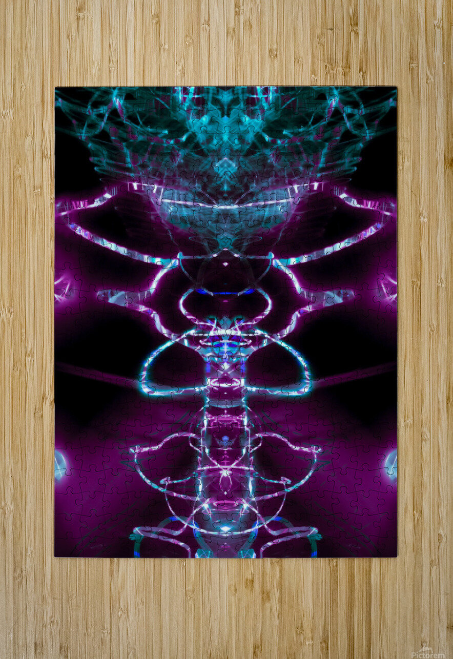 VERT PURP  HD Metal print with Floating Frame on Back