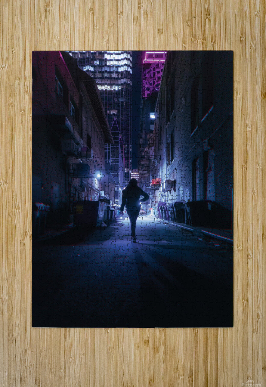 Midnight Girl  HD Metal print with Floating Frame on Back