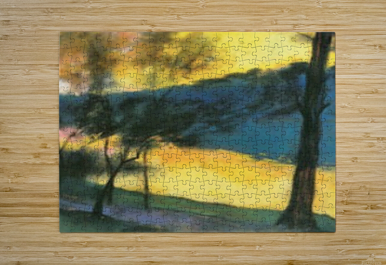 Landscape by Lesser Ury  HD Metal print with Floating Frame on Back