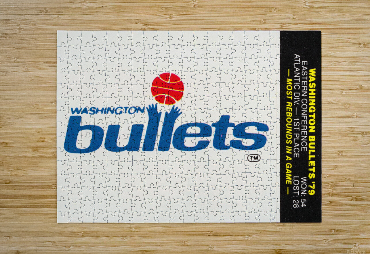 1979 Washington Bullets Fleer Decal   HD Metal print with Floating Frame on Back