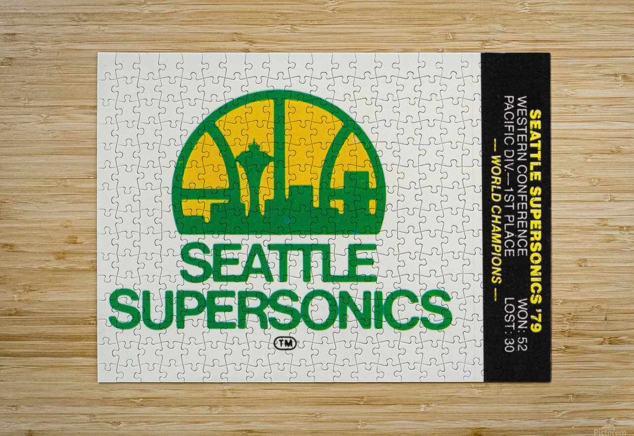 1979 Seattle Supersonics Fleer Decal  HD Metal print with Floating Frame on Back