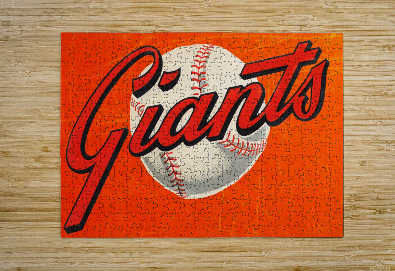 1960s San Francisco Giants Art  HD Metal print with Floating Frame on Back