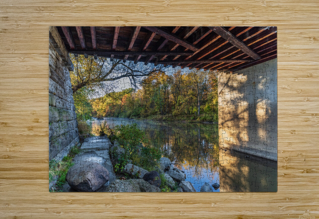 Grand River at Mechanicsville Ohio  HD Metal print with Floating Frame on Back