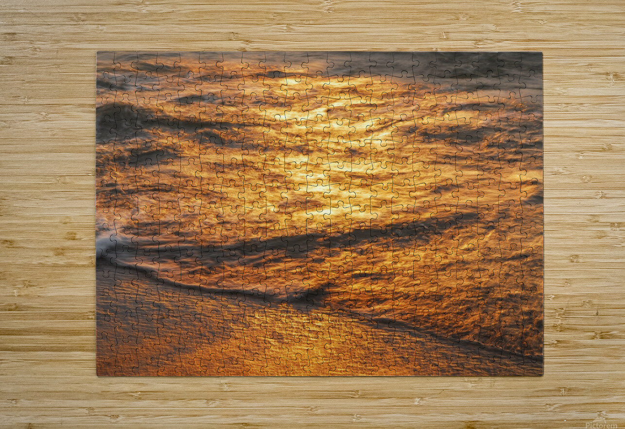 Lake Erie waves 5  HD Metal print with Floating Frame on Back