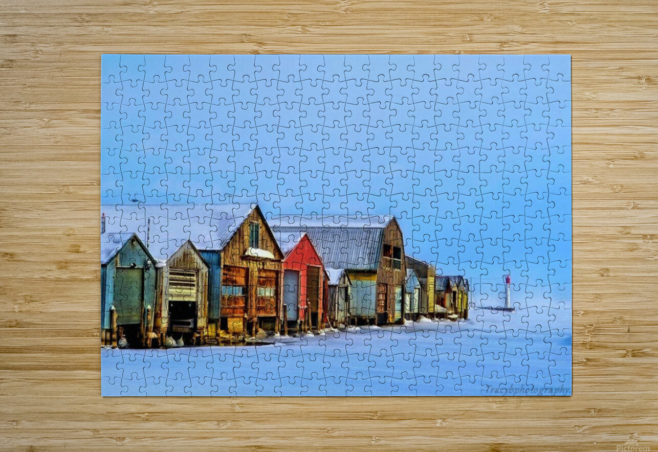Boat Houses  HD Metal print with Floating Frame on Back