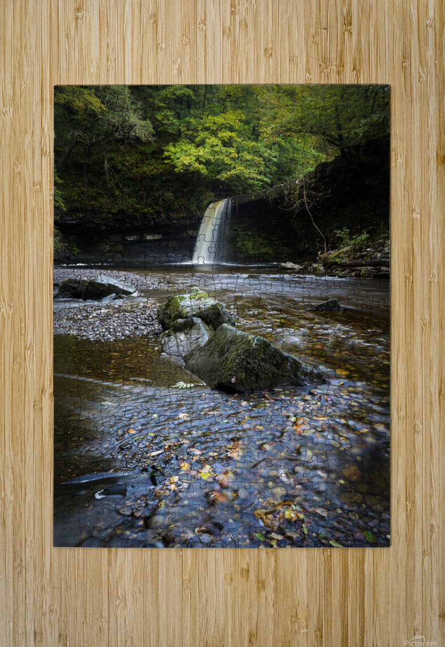 Autumn at Sgwd Gwladus  HD Metal print with Floating Frame on Back